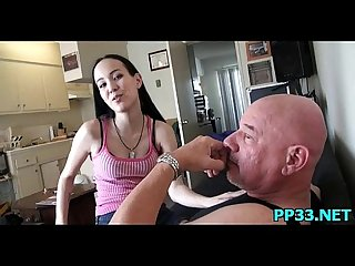Little sexy slut whines about being cold