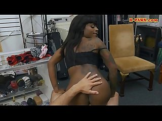 Ebony slammed by perverted pawn keeper