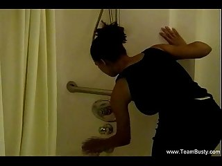 Black Ebony MILF Showers