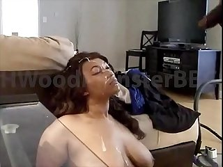 Suck my big Cock take this load in your face big tit sluts drains Bbc while he watches porn