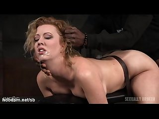 Atrocious doggystyle banging for hot slave while she gives wet deepthroating