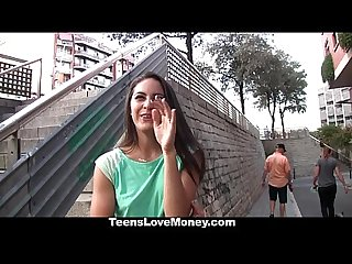 Teenslovemoney spanish waitress fucked for money