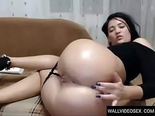 WALLVIDEOSEX Anal masturbation girl cam big ass PT.1