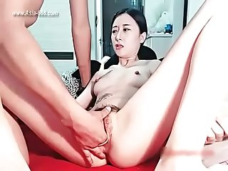 Chinese girl show sex