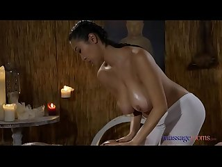 Massage Rooms Hot Latina Venus Afrodita licking sexy Asian Sharon Lee