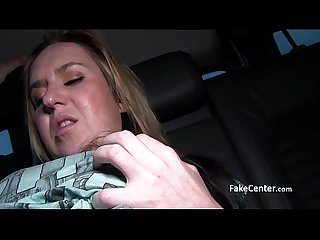 Mature lady fucks outdoors for cash