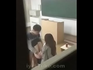 Student caught in school classroom