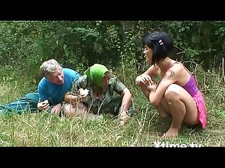 A pic nic of a perverse family of farmers turns into an orgy