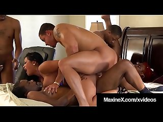 Cambodian Milf Maxine X Fucks 4 Big Black Cocks & 1 BBW!