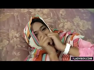 Muslim ladyboy two way blowjob