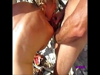 Threesome Cuckold Amateur Wife Beach