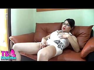Asian shemale ts filipina play with the bottle in her ass