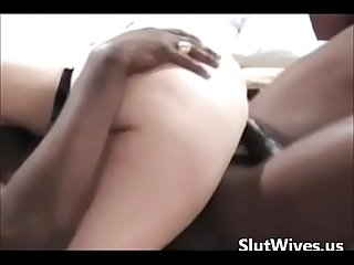 Slutwife Interracial Bbc Fuck and cum shot