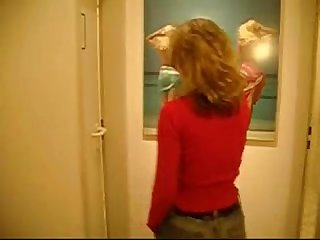 Real withe booty milf have anal sex and make blowjob on the bathroom