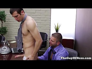 Office boss colby jansen rimming worker