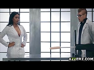 Busty doctor Jenna foxx fucks a huge sex toy
