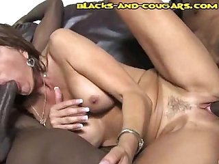 Milf cougar takes black cocks