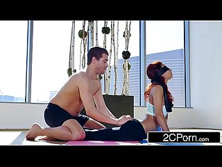 Blindfolded Redhead Teen Jade Jantzen Gets Perverted Yoga Experience