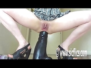 Colossal Anal Dildo Fucking Destruction