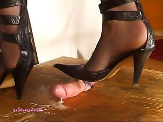 Beneath indian mistress julie singla s soles who tramples cock with heeljob