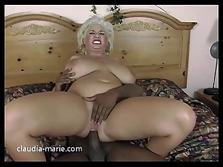 Claudia marie takes black cock breeding to her fat ass