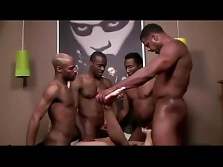 Black guys deep inside tight white Ass
