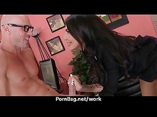 Milf fucks men while husband works 18