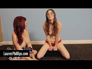 Slutty Lauren Phillips Sits Her Pussy on the Sybian