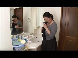 Shiho terashima masturbating in the bathroom
