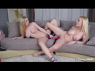 Busty lesbians Donna Bell & Tasha Holz lick their pussies & suck their tits