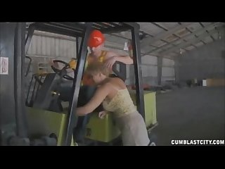 Sucking the worker S boner