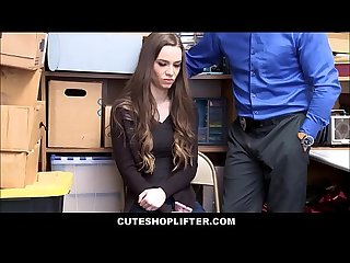 Cute Skinny Teen Shoplifter Tali Dova Fucked By Officer After Being Blackmailed