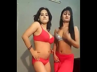 Very host Desi dress less nude Mujra dance in private room from lahore