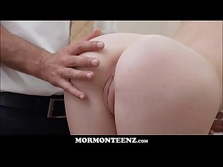 Hot Mormon Teen Sister Davis Orgasms For Church Prez