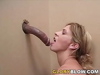 Phyllisha Anne sucks and deepthroats black dick - Gloryhole