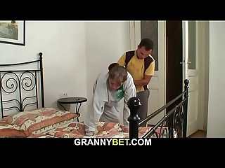 He fucks 70 yo granny