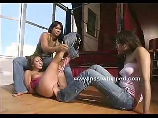 Tattooed asian dominatrix has her way with a beautiful woman tying her up