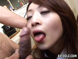 Asian cock sucker found her Lolly to suck on