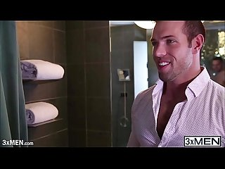 Hairy dude alex mecum joins brendan phillips in the shower and fucked him in the