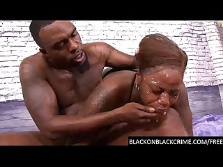 Rough Deep throat & pounded by a BBC