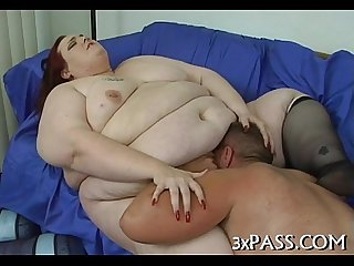 Great sex with obese slut