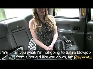 Damn hottie mom with a big tits tries drivers big dick in taxi