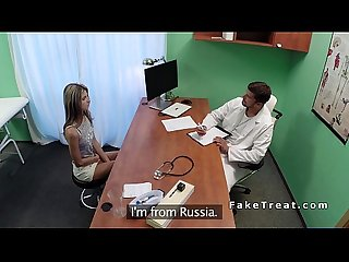 Russian babe first time at doctor fucks him in office