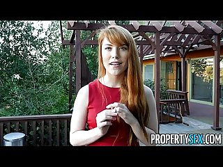 Propertysex hot redhead real estate agent performs sexual favors