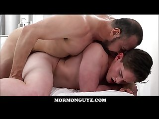 Young jock mormon boy elder edwards seduced and fucked by muscle bear mormon president ballard