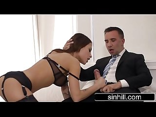 Male gigolo pleases 2 beauties at the same time anna Polina Nikita bellucci