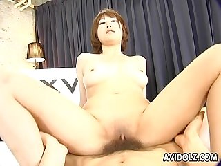 Hairy reimi fujikura riding cock like mad