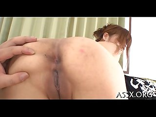 Sizzling hot asian anal invasion