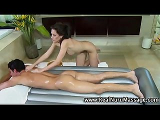 Masseuse babe fucking client