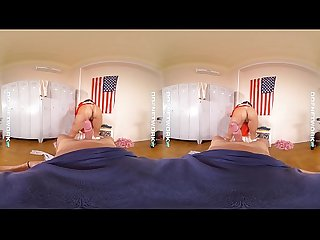 Ddfnetwork vr Melody petite sucks your cock balls in vr